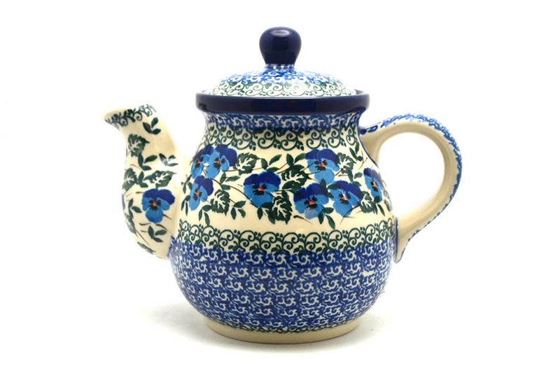 Ceramika Artystyczna Polish Pottery Gooseneck Teapot - 20 oz. - Winter Viola 119-2273a (Ceramika Artystyczna)