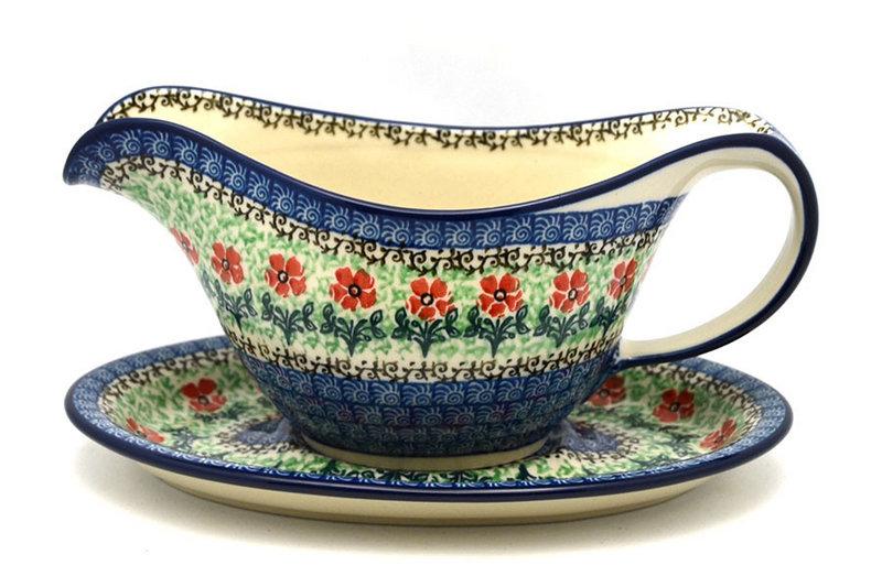 Polish Pottery Gravy Boat - Maraschino