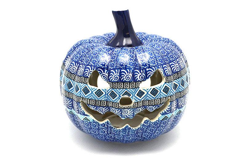 Ceramika Artystyczna Polish Pottery Jack-o-lantern - Large - Aztec Sky D40-1917a (Ceramika Artystyczna)