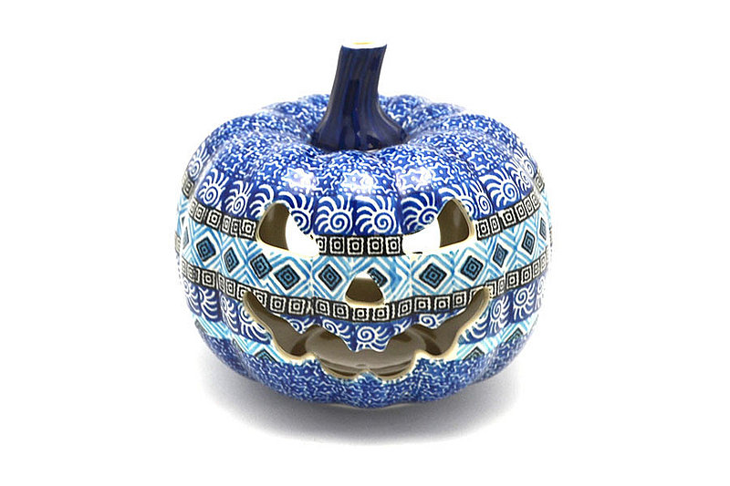 Ceramika Artystyczna Polish Pottery Jack-o-lantern - Small - Aztec Sky D41-1917a (Ceramika Artystyczna)