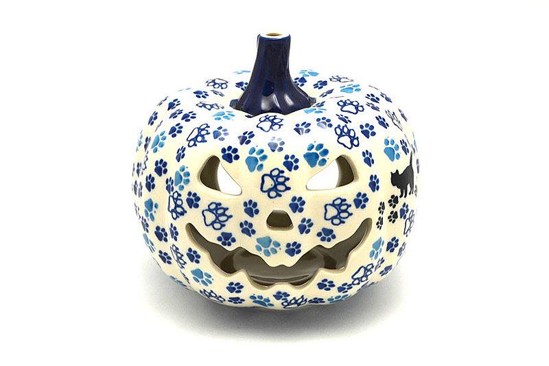 Ceramika Artystyczna Polish Pottery Jack-o-lantern - Small - Boo Boo Kitty D41-1771a (Ceramika Artystyczna)
