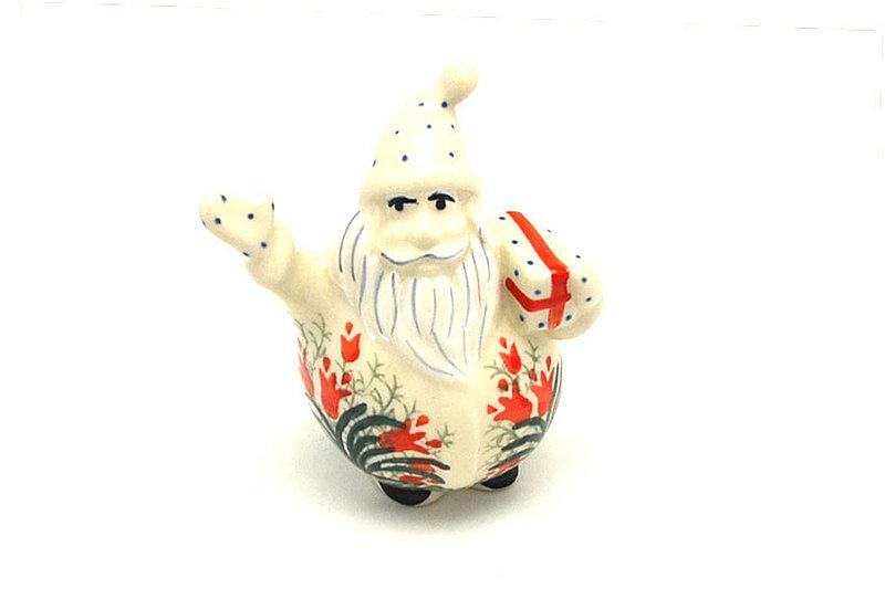 Ceramika Artystyczna Polish Pottery Jolly Santa Figurine - Crimson Bells E13-1437a (Ceramika Artystyczna)
