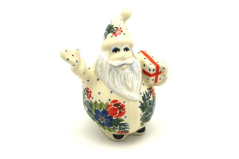 Ceramika Artystyczna Polish Pottery Jolly Santa Figurine - Garden Party E13-1535a (Ceramika Artystyczna)