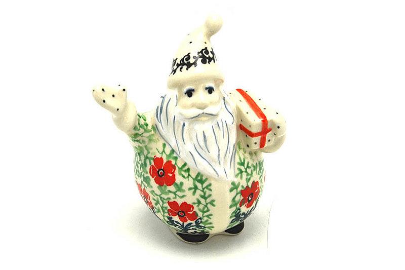 Ceramika Artystyczna Polish Pottery Jolly Santa Figurine - Maraschino E13-1916a (Ceramika Artystyczna)
