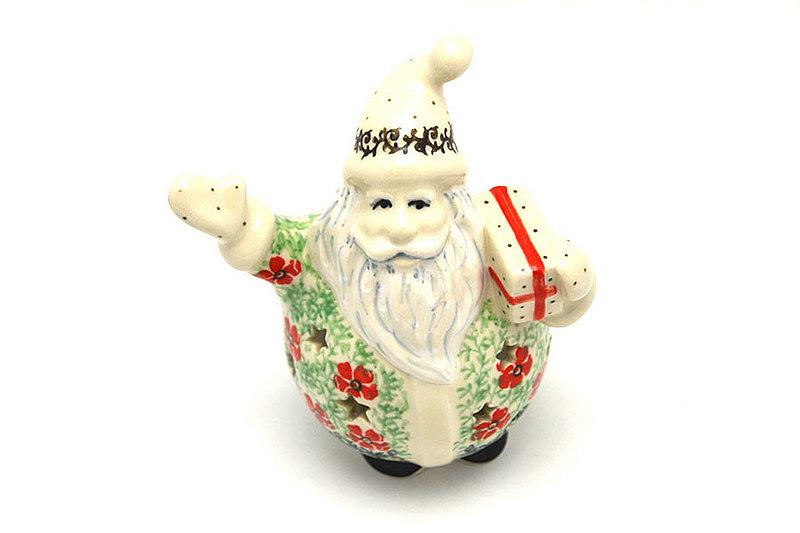 Ceramika Artystyczna Polish Pottery Jolly Santa Luminary - Maraschino E05-1916a (Ceramika Artystyczna)