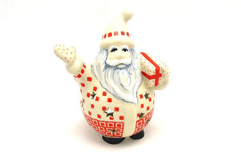 Ceramika Artystyczna Polish Pottery Jolly Santa Luminary - Up on the Rooftop E05-2318a (Ceramika Artystyczna)