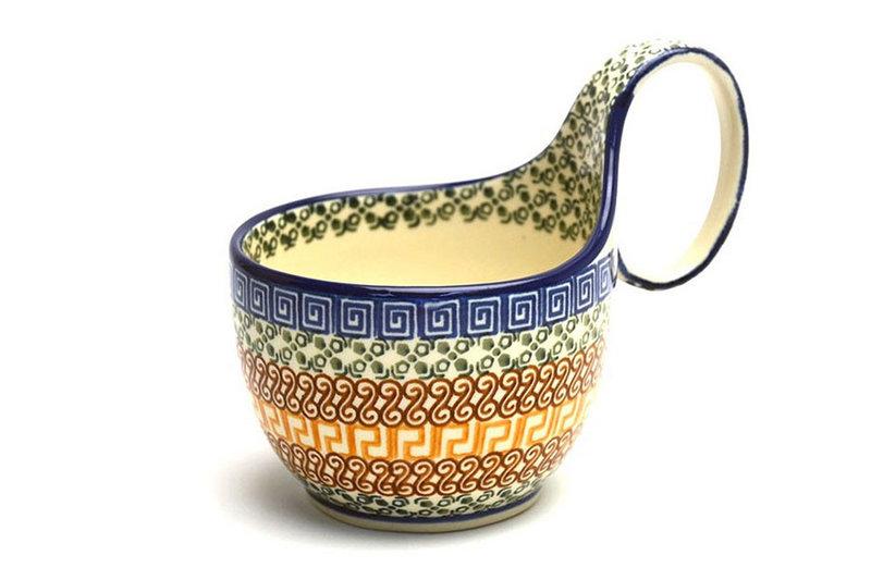 Ceramika Artystyczna Polish Pottery Loop Handle Bowl - Autumn 845-050a (Ceramika Artystyczna)