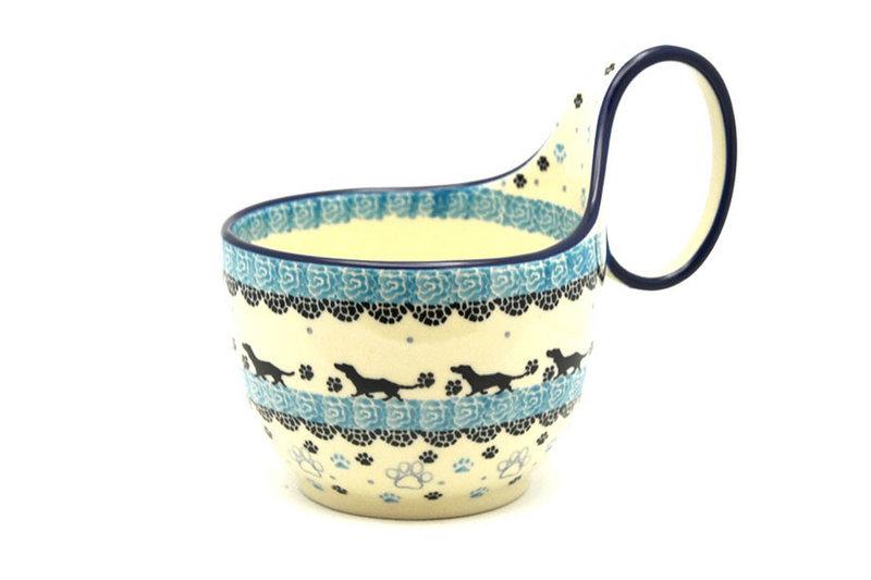 Ceramika Artystyczna Polish Pottery Loop Handle Bowl - Diggity Dog 845-2152a (Ceramika Artystyczna)