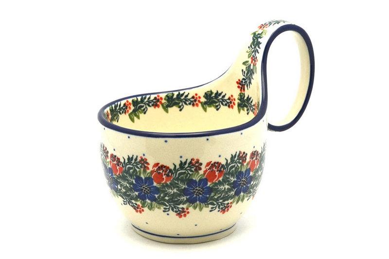 Ceramika Artystyczna Polish Pottery Loop Handle Bowl - Garden Party 845-1535a (Ceramika Artystyczna)