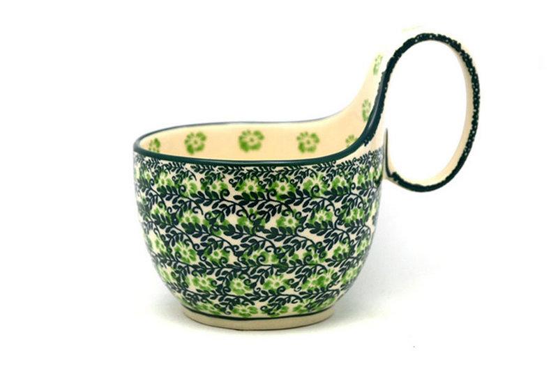 Ceramika Artystyczna Polish Pottery Loop Handle Bowl - Irish Meadow 845-1888q (Ceramika Artystyczna)
