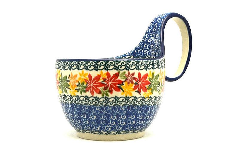 Ceramika Artystyczna Polish Pottery Loop Handle Bowl - Maple Harvest 845-2533a (Ceramika Artystyczna)
