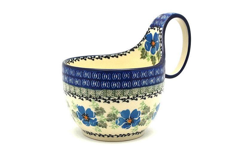 Ceramika Artystyczna Polish Pottery Loop Handle Bowl - Morning Glory 845-1915a (Ceramika Artystyczna)