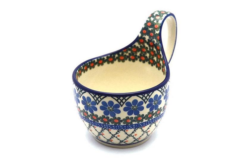 Ceramika Artystyczna Polish Pottery Loop Handle Bowl - Primrose 845-854a (Ceramika Artystyczna)