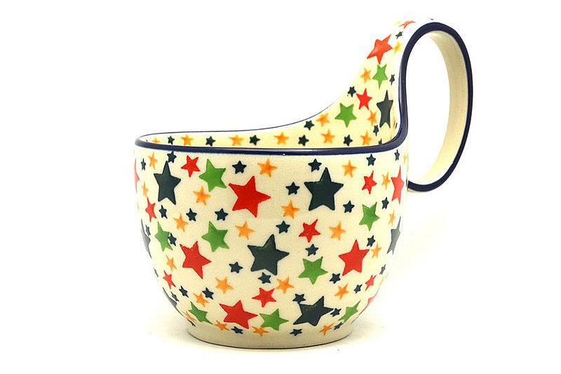 Ceramika Artystyczna Polish Pottery Loop Handle Bowl - Star Studded 845-2258a (Ceramika Artystyczna)