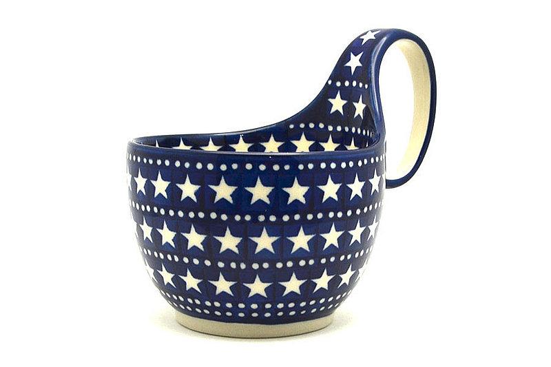 Ceramika Artystyczna Polish Pottery Loop Handle Bowl - Starlight 845-0119a (Ceramika Artystyczna)