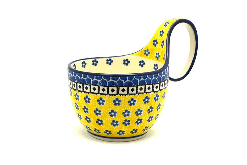 Ceramika Artystyczna Polish Pottery Loop Handle Bowl - Sunburst 845-859a (Ceramika Artystyczna)