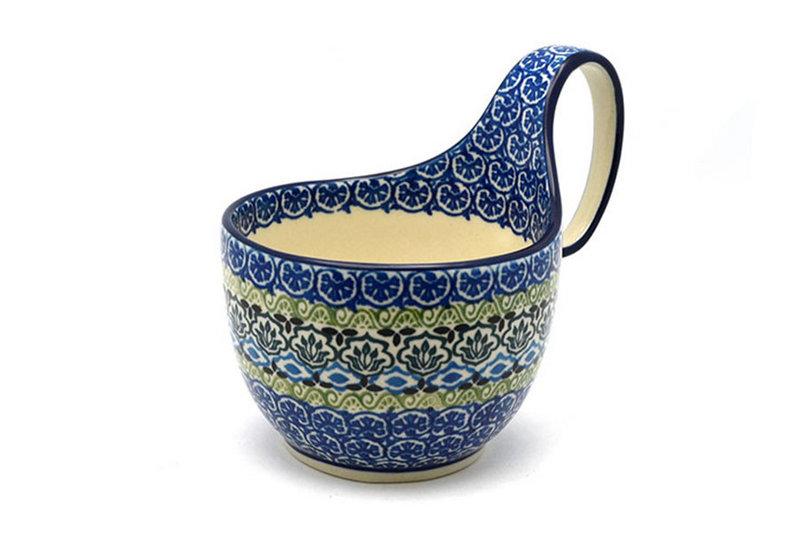 Ceramika Artystyczna Polish Pottery Loop Handle Bowl - Tranquility 845-1858a (Ceramika Artystyczna)