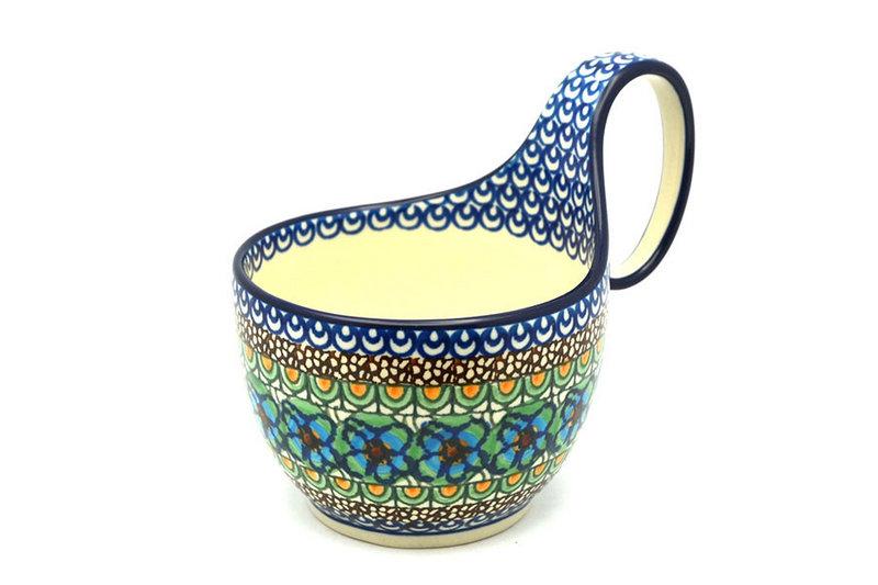 Ceramika Artystyczna Polish Pottery Loop Handle Bowl - Unikat Signature U151 845-U0151 (Ceramika Artystyczna)