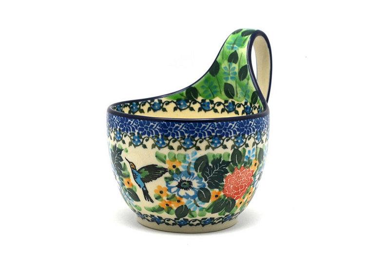Ceramika Artystyczna Polish Pottery Loop Handle Bowl - Unikat Signature U3271 845-U3271 (Ceramika Artystyczna)