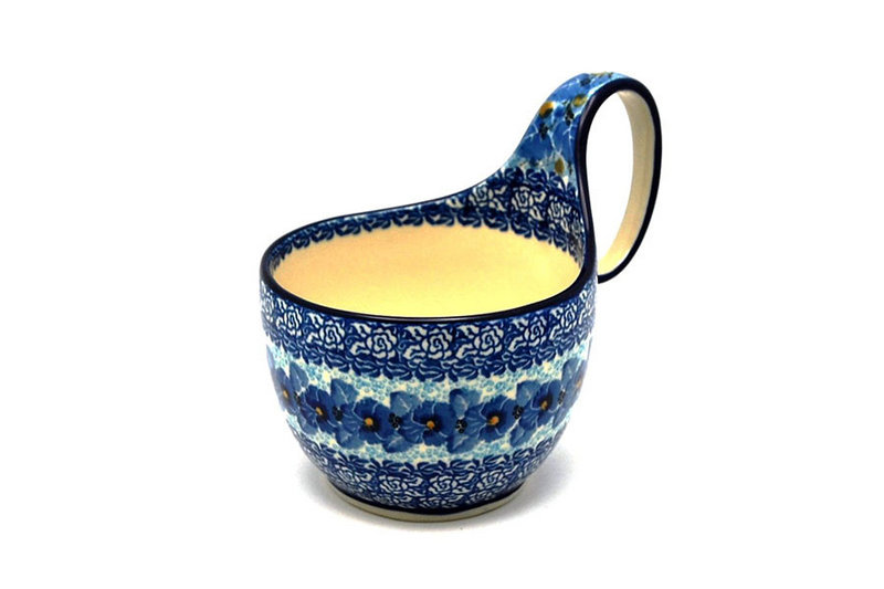 Ceramika Artystyczna Polish Pottery Loop Handle Bowl - Unikat Signature U3639 845-U3639 (Ceramika Artystyczna)
