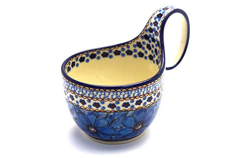 Ceramika Artystyczna Polish Pottery Loop Handle Bowl - Unikat Signature U408C 845-U408C (Ceramika Artystyczna)
