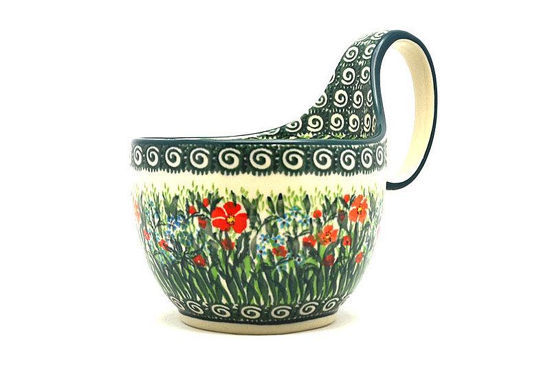 Ceramika Artystyczna Polish Pottery Loop Handle Bowl - Unikat Signature U4336 845-U4336 (Ceramika Artystyczna)