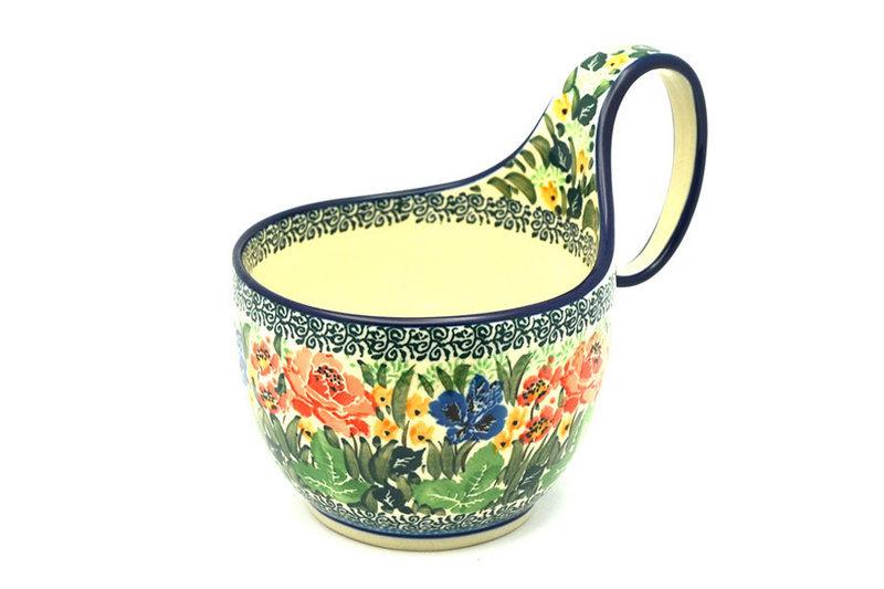 Ceramika Artystyczna Polish Pottery Loop Handle Bowl - Unikat Signature U4400 845-U4400 (Ceramika Artystyczna)