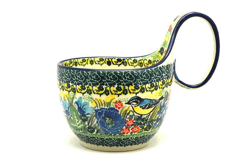 Ceramika Artystyczna Polish Pottery Loop Handle Bowl - Unikat Signature U4419 845-U4419 (Ceramika Artystyczna)
