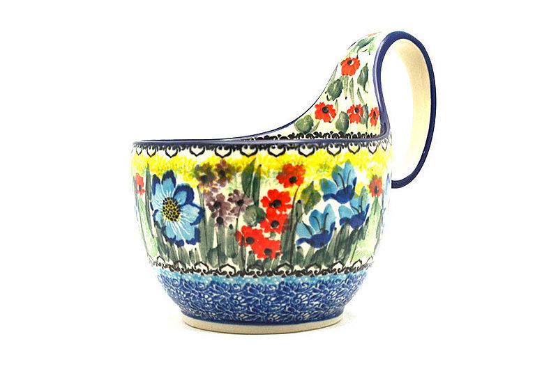 Ceramika Artystyczna Polish Pottery Loop Handle Bowl - Unikat Signature U4558 845-U4558 (Ceramika Artystyczna)