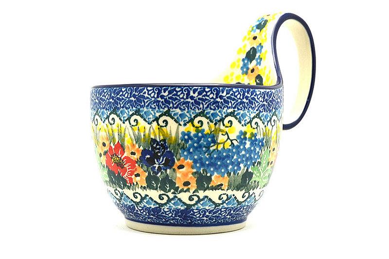 Ceramika Artystyczna Polish Pottery Loop Handle Bowl - Unikat Signature U4592 845-U4592 (Ceramika Artystyczna)