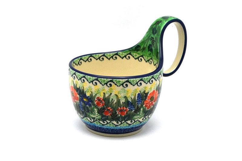 Ceramika Artystyczna Polish Pottery Loop Handle Bowl - Unikat Signature U4610 845-U4610 (Ceramika Artystyczna)