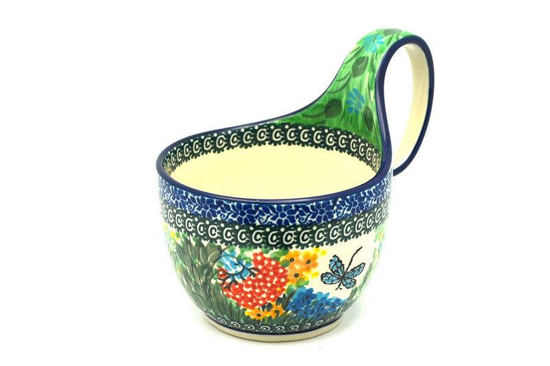 Ceramika Artystyczna Polish Pottery Loop Handle Bowl - Unikat Signature U4612 845-U4612 (Ceramika Artystyczna)