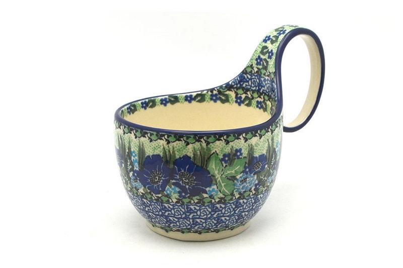 Ceramika Artystyczna Polish Pottery Loop Handle Bowl - Unikat Signature U4629 845-U4629 (Ceramika Artystyczna)