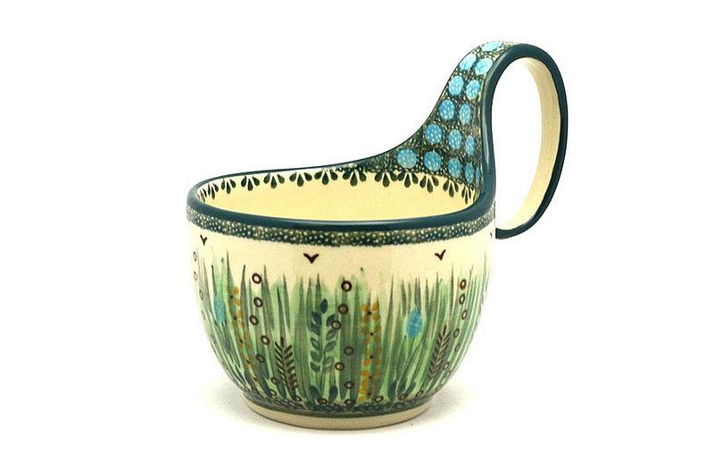 Ceramika Artystyczna Polish Pottery Loop Handle Bowl - Unikat Signature U803 845-U0803 (Ceramika Artystyczna)