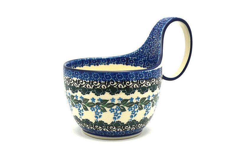 Ceramika Artystyczna Polish Pottery Loop Handle Bowl - Wisteria 845-1473a (Ceramika Artystyczna)
