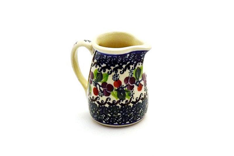 Ceramika Artystyczna Polish Pottery Miniature Pitcher - Burgundy Berry Green 315-1415a (Ceramika Artystyczna)