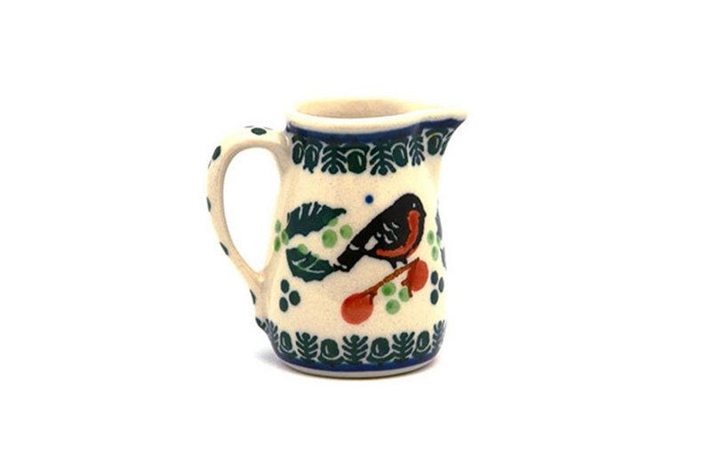 Ceramika Artystyczna Polish Pottery Miniature Pitcher - Red Robin 315-1257a (Ceramika Artystyczna)