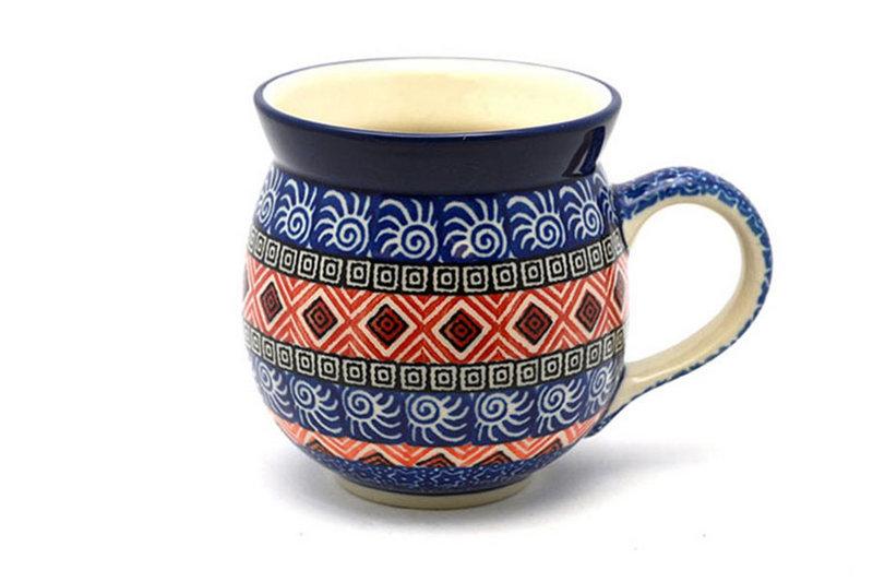 Ceramika Artystyczna Polish Pottery Mug - 11 oz. Bubble - Aztec Sun 070-1350a (Ceramika Artystyczna)