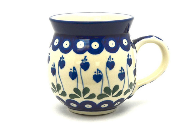 Polish Pottery Mug - 11 oz. Bubble - Bleeding Heart