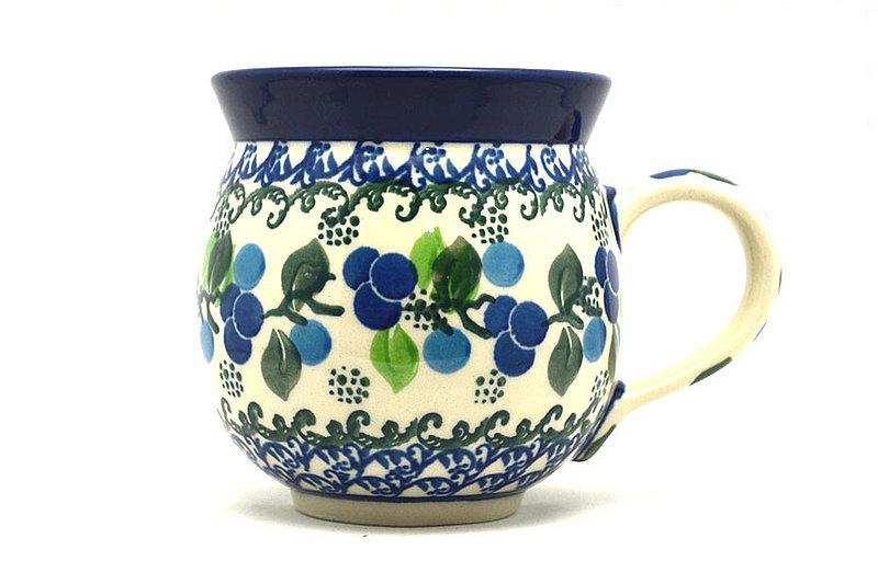 Ceramika Artystyczna Polish Pottery Mug - 11 oz. Bubble - Blue Berries 070-1416a (Ceramika Artystyczna)