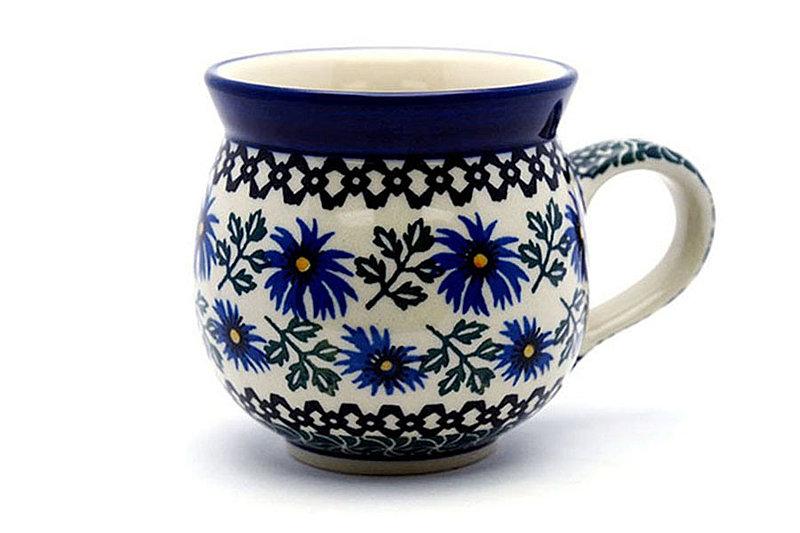 Polish Pottery Mug - 11 oz. Bubble - Blue Chicory