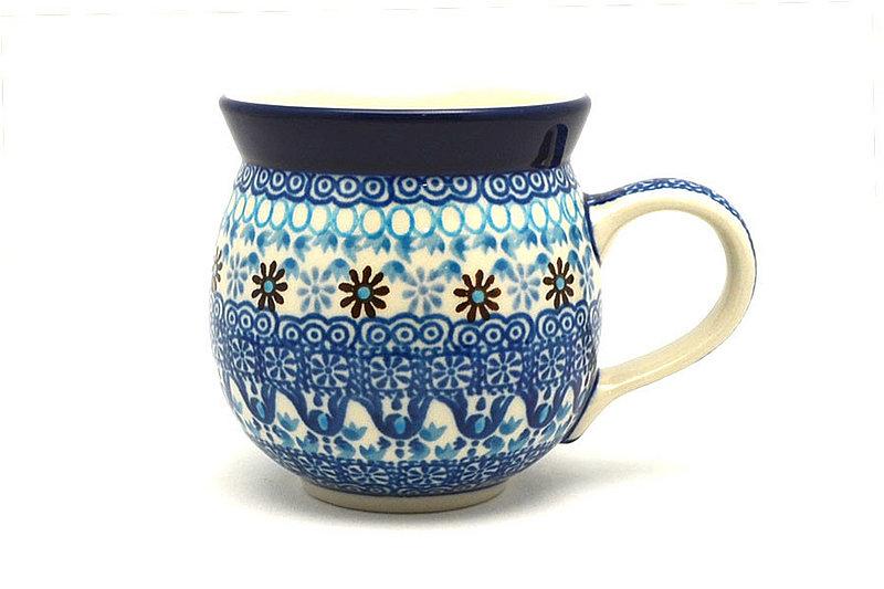 Ceramika Artystyczna Polish Pottery Mug - 11 oz. Bubble - Blue Yonder 070-2187a (Ceramika Artystyczna)