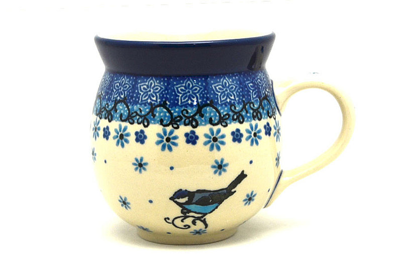 Polish Pottery Mug - 11 oz. Bubble - Bluebird