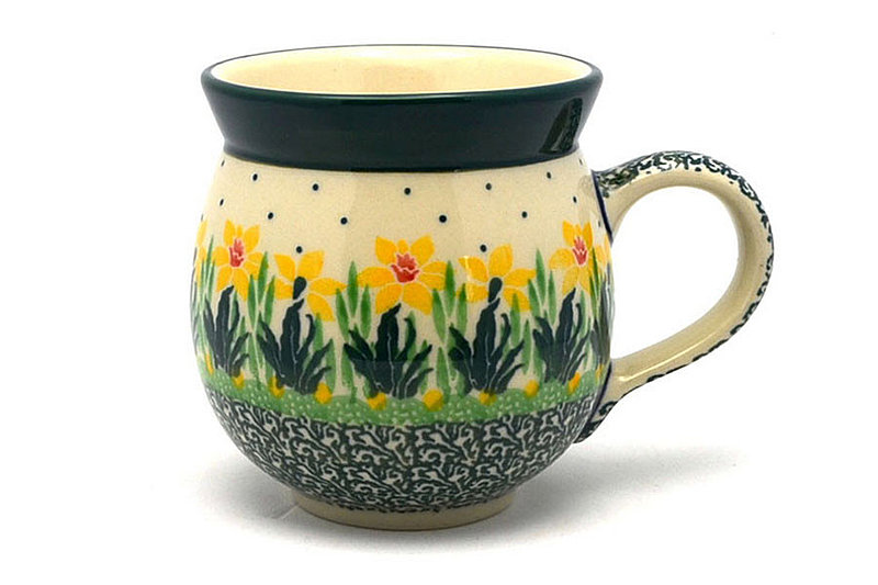 Polish Pottery Mug - 11 oz. Bubble - Daffodil