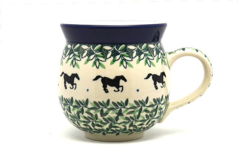 Ceramika Artystyczna Polish Pottery Mug - 11 oz. Bubble - Dark Horse 070-2241a (Ceramika Artystyczna)
