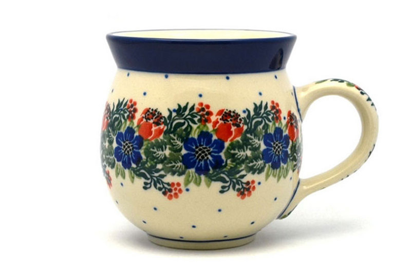 Polish Pottery Mug - 11 oz. Bubble - Garden Party