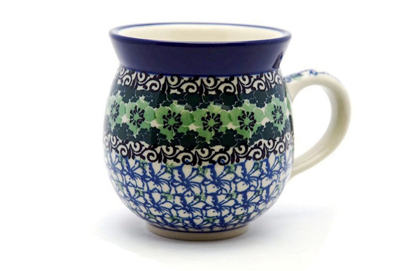 Polish Pottery Mug - 11 oz. Bubble - Kiwi