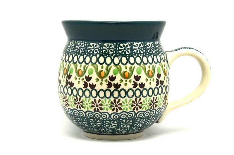 Ceramika Artystyczna Polish Pottery Mug - 11 oz. Bubble - Mint Chip 070-2195q (Ceramika Artystyczna)