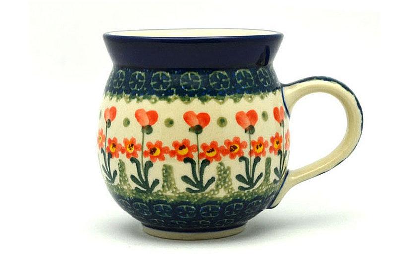 Ceramika Artystyczna Polish Pottery Mug - 11 oz. Bubble - Peach Spring Daisy 070-560a (Ceramika Artystyczna)