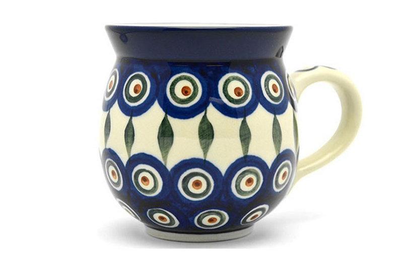 Ceramika Artystyczna Polish Pottery Mug - 11 oz. Bubble - Peacock 070-054a (Ceramika Artystyczna)